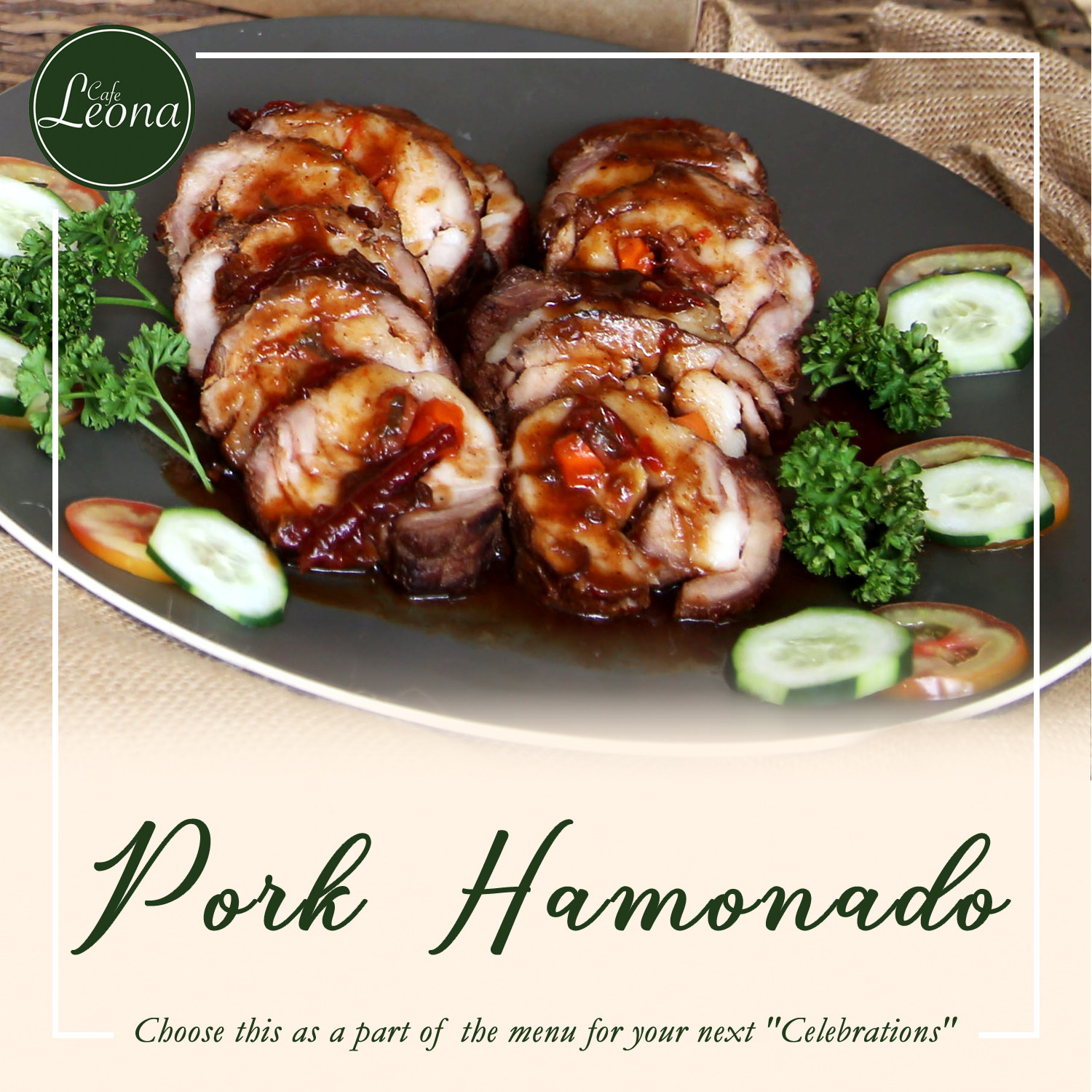 Cafe Leona food series Pork Hamonado